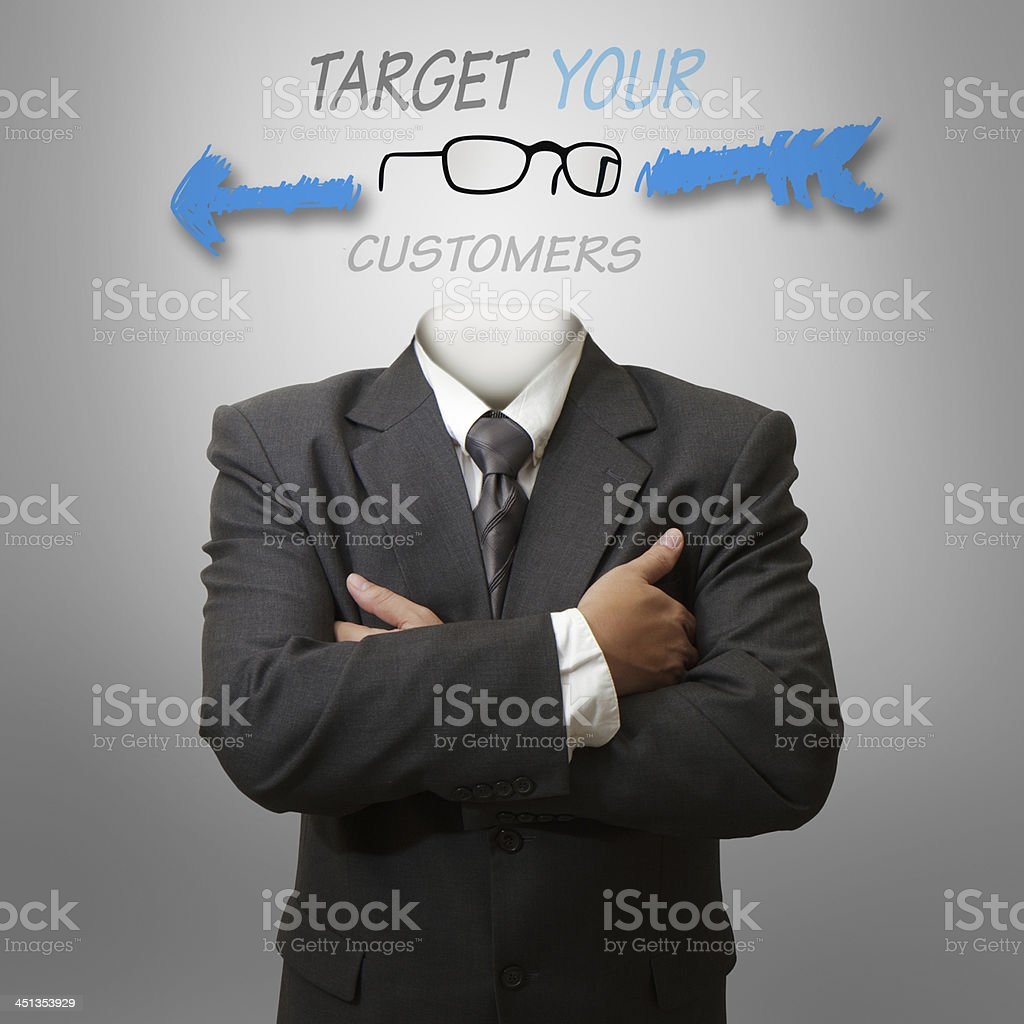 target your customers as concep royalty-free stock photo