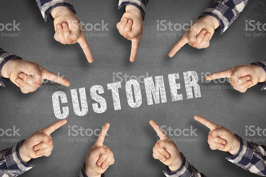 target your customers black board stock photo