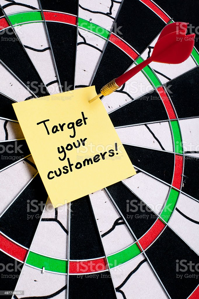 Target Your Customers royalty-free stock photo