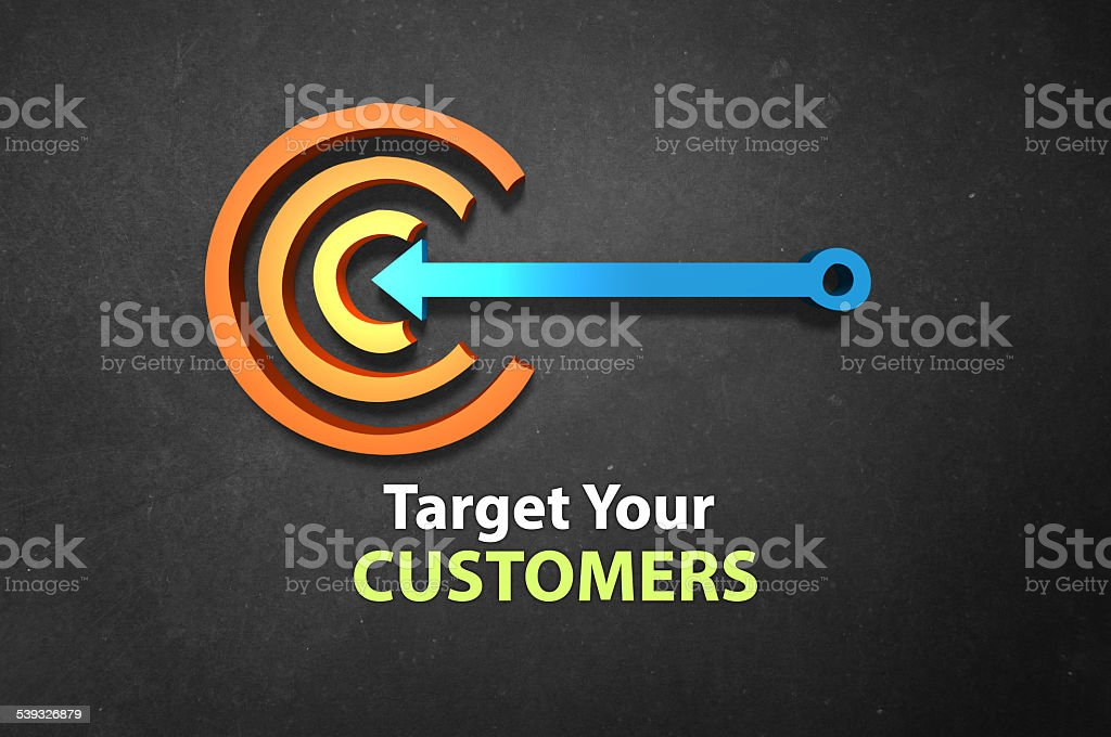 Target your customers! stock photo