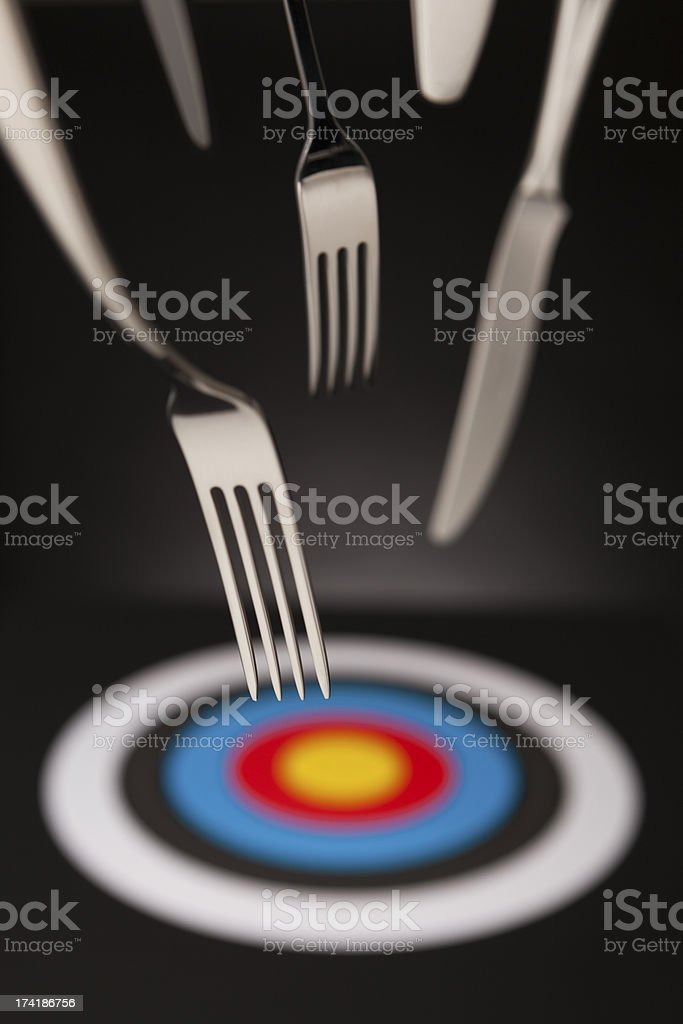 Targeted diet royalty-free stock photo