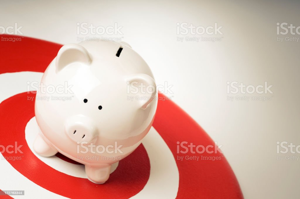 targeted savings royalty-free stock photo