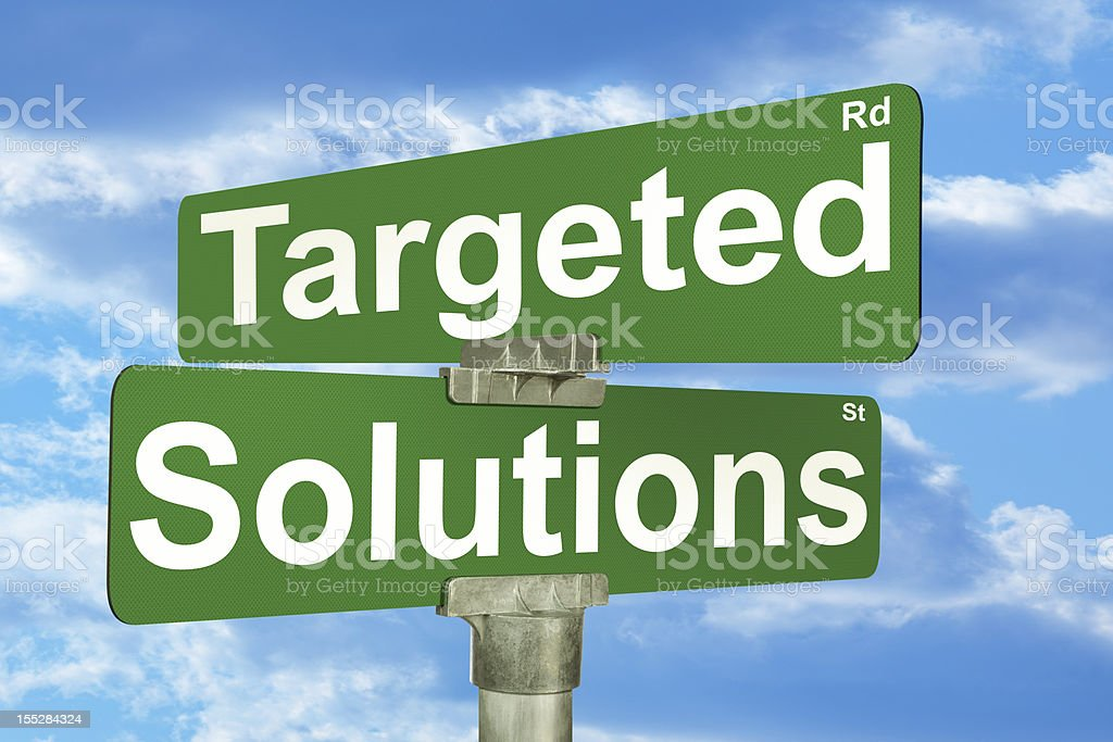 Targeted Solutions Street Intersection Sign stock photo
