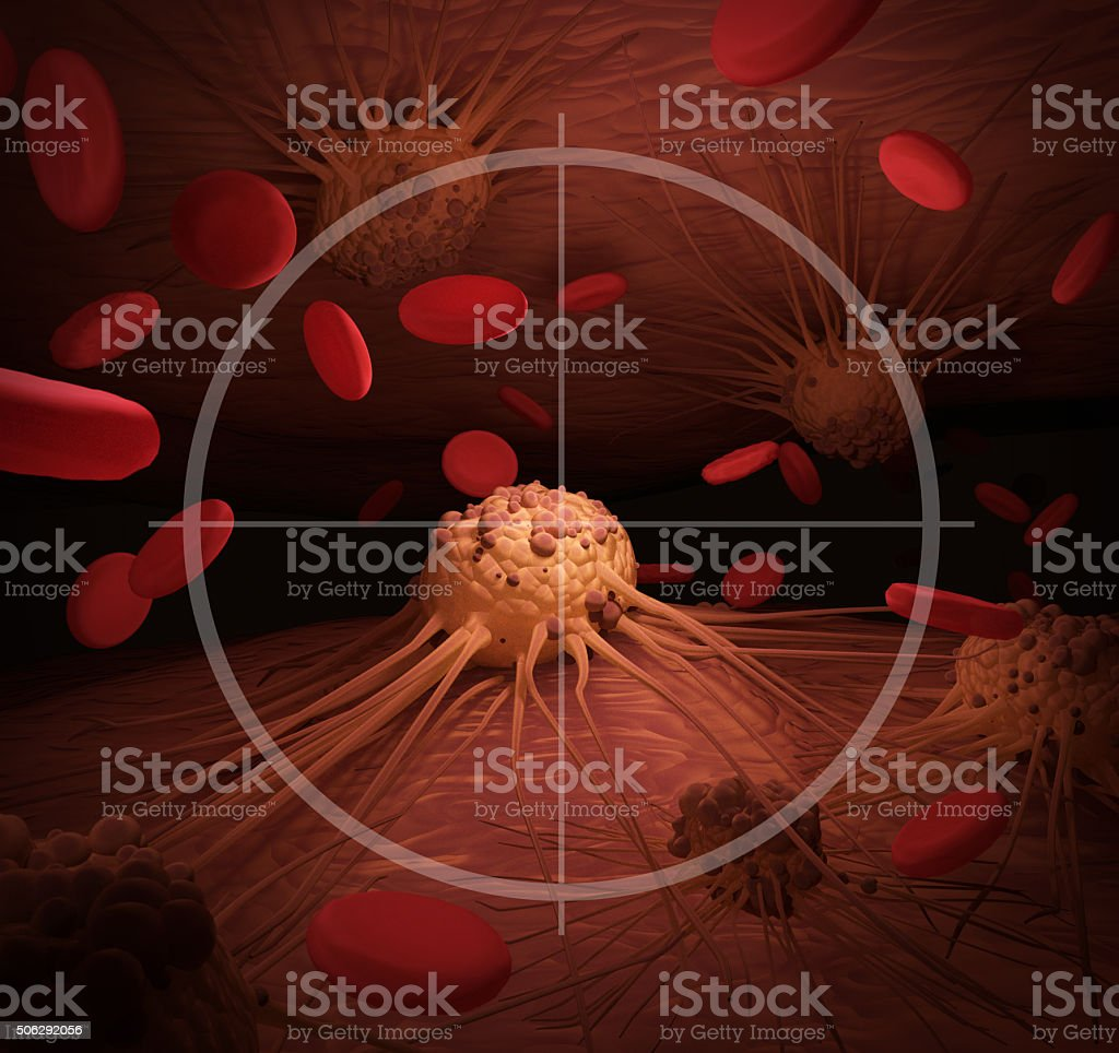 Targeting Cancer stock photo