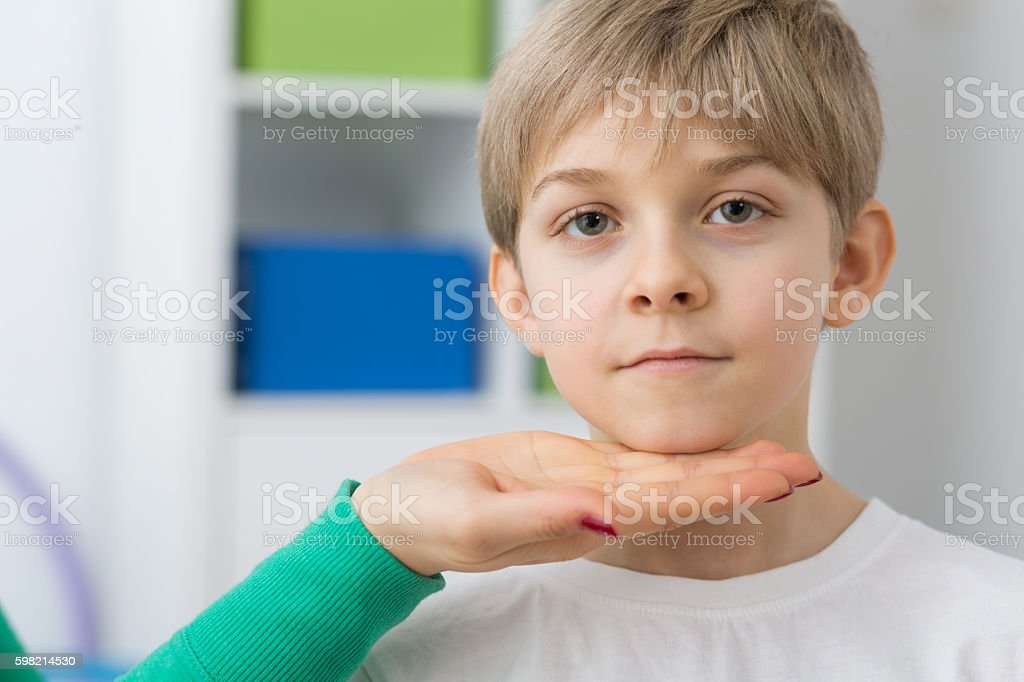 Targeting in correct posture stock photo