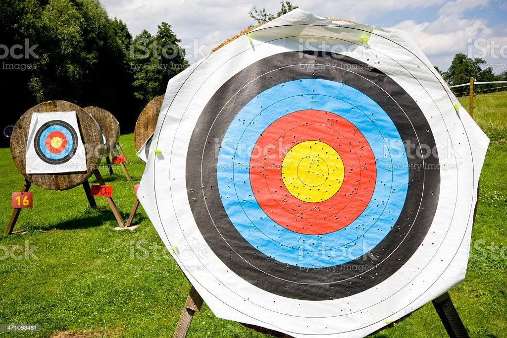 Targets Bow and Arrow royalty-free stock photo