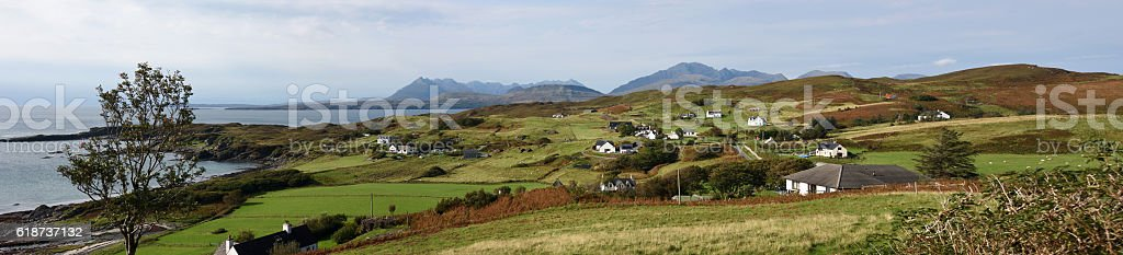 Tarkavaig Skye Scotland stock photo