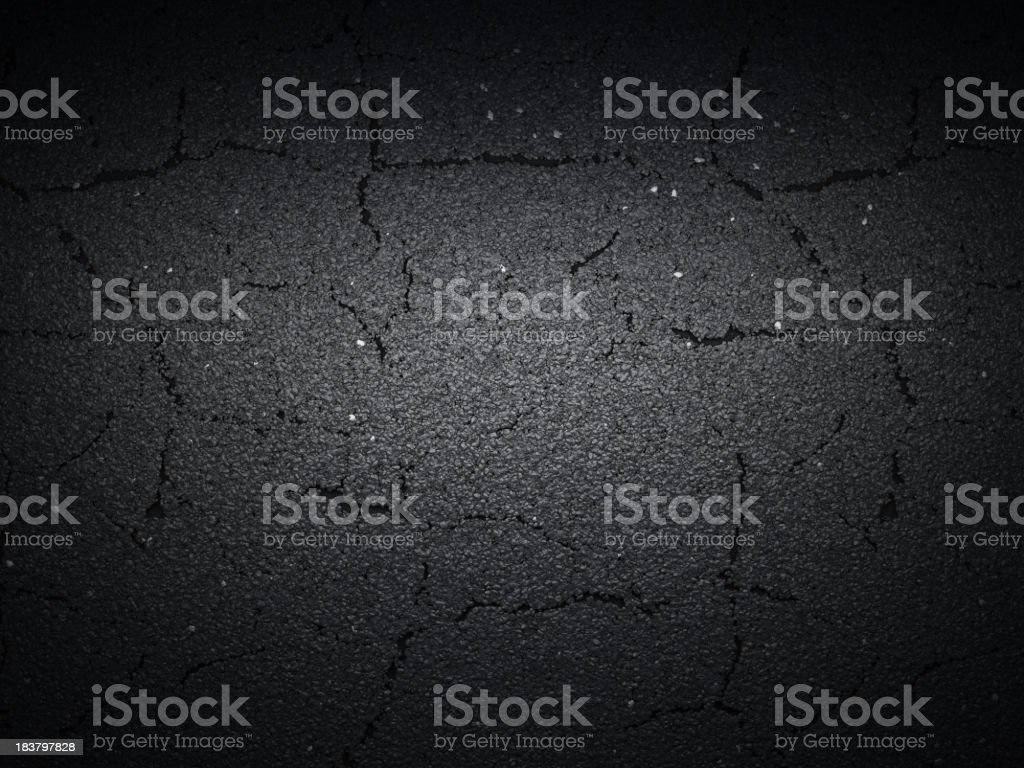 Tarmac cracked royalty-free stock photo