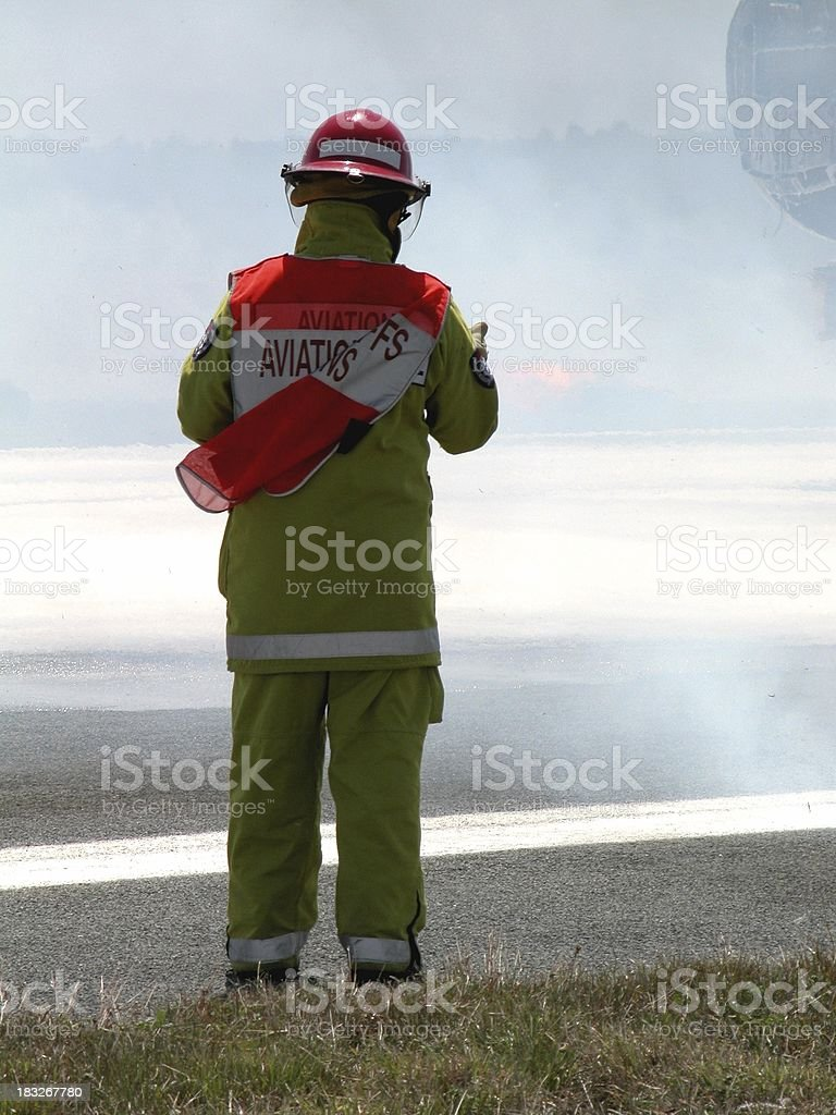 tarmac emergency rescue royalty-free stock photo