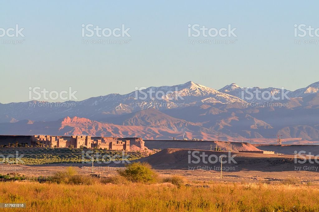Tarmigte Morocco at Sunrise stock photo