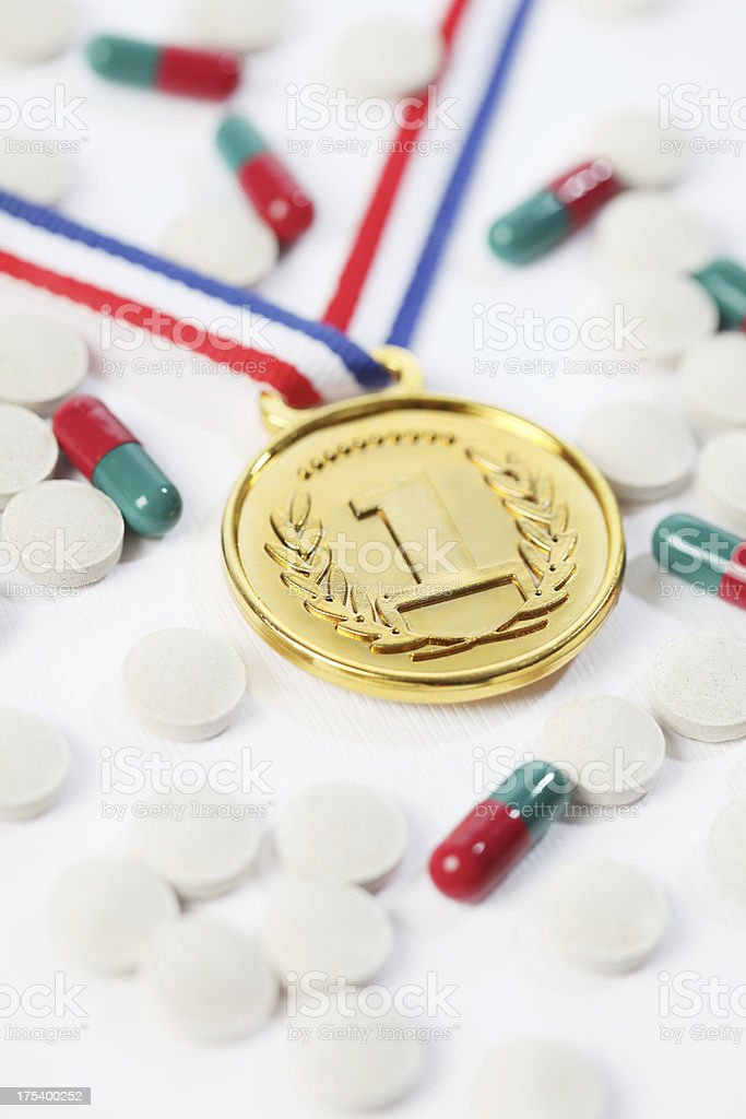 tarnished medal royalty-free stock photo