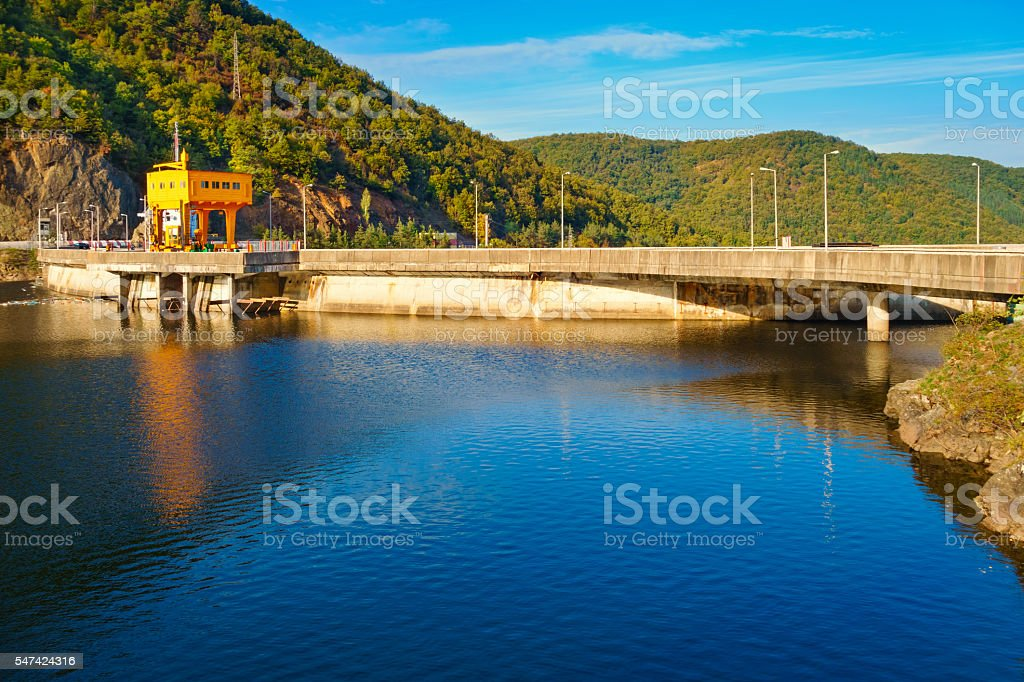 Tarnita Lake Reservoir and Dam in Cluj County Romania stock photo