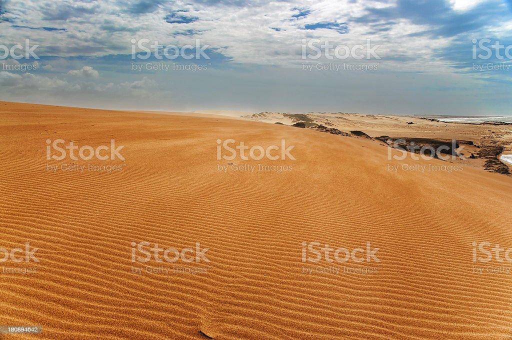 Taroa Sand Dune View royalty-free stock photo