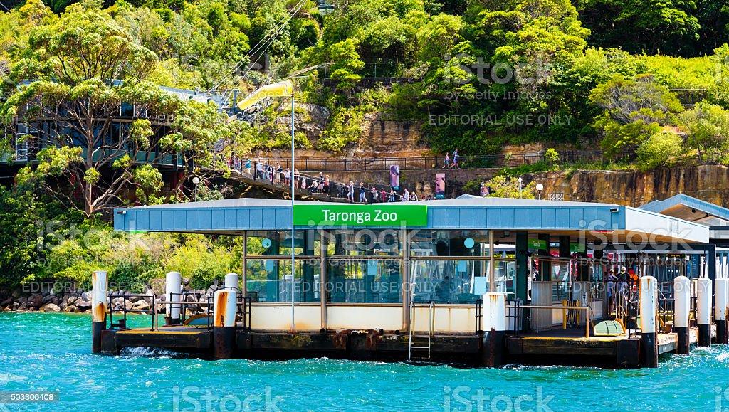 Taronga Zoo ferry station stock photo