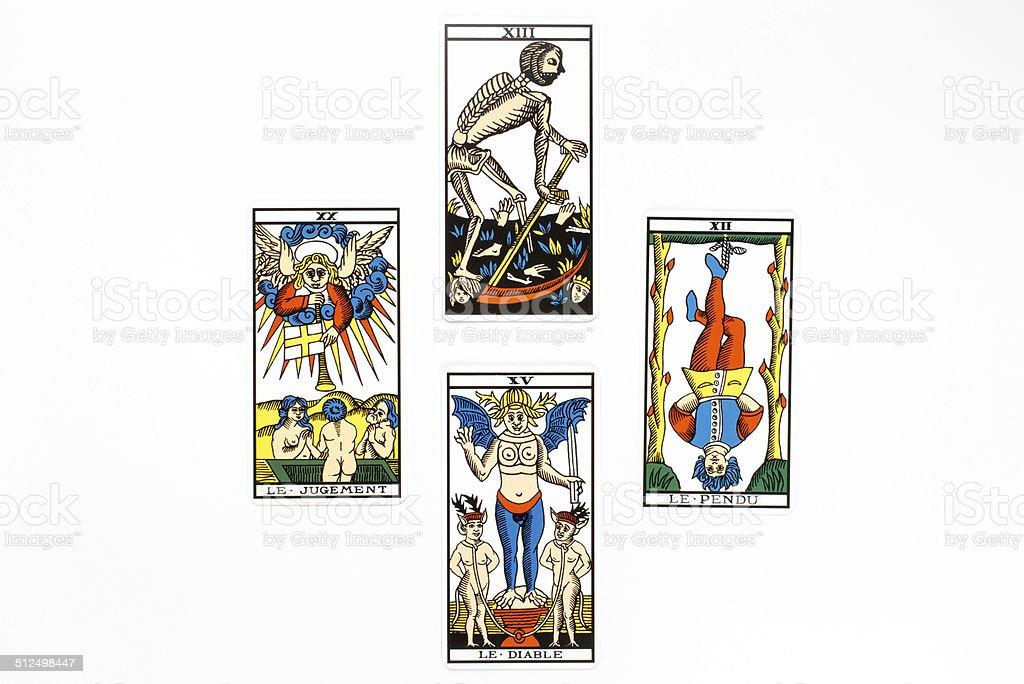 Tarot card bad draw stock photo