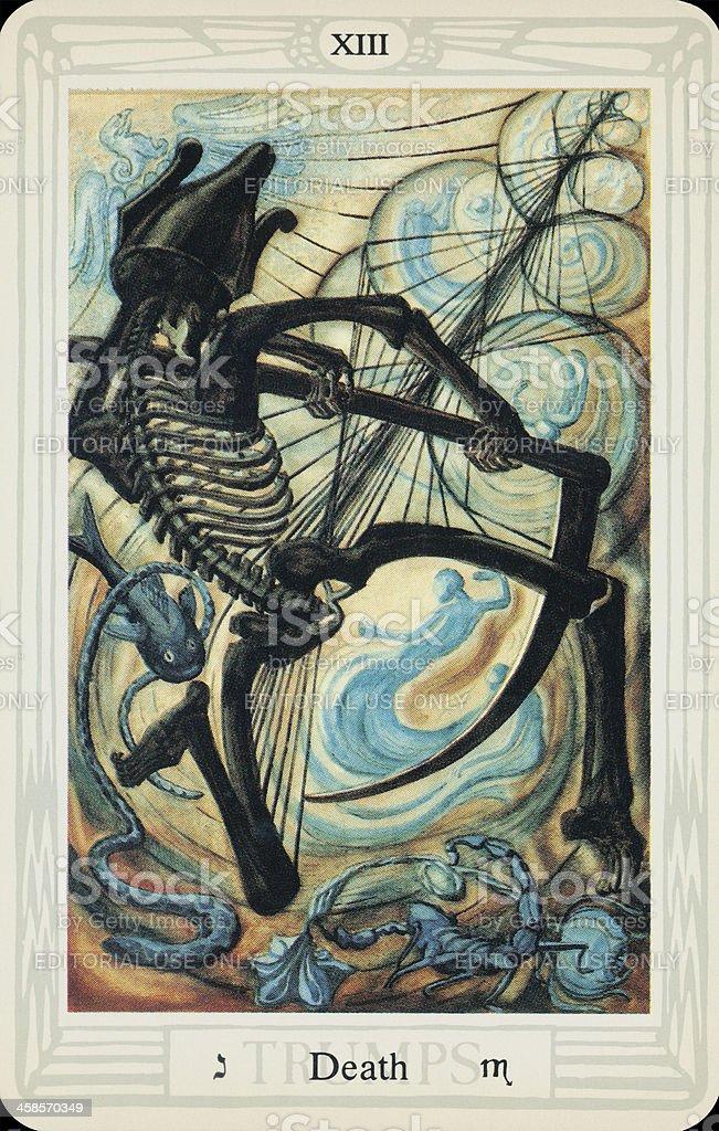 Tarot Card - Death stock photo