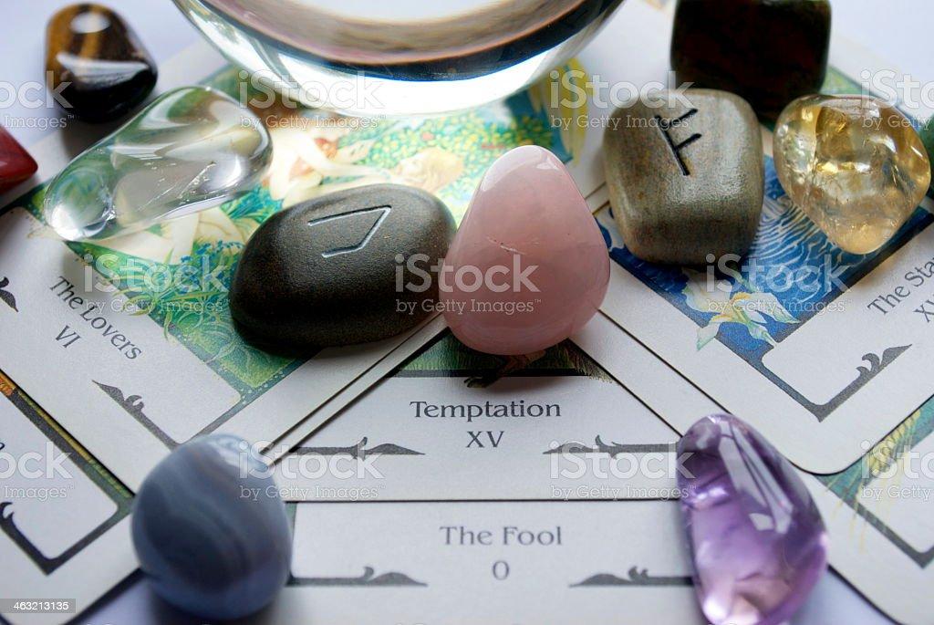 Tarot Card Reading stock photo