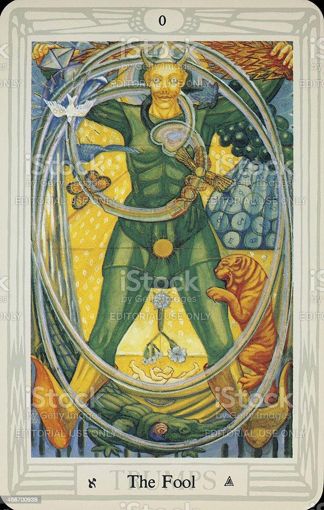 Tarot Card - The Fool stock photo