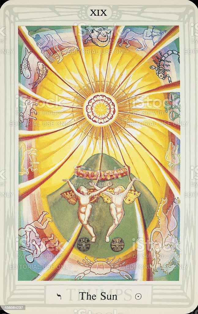 Tarot Card - The Sun stock photo
