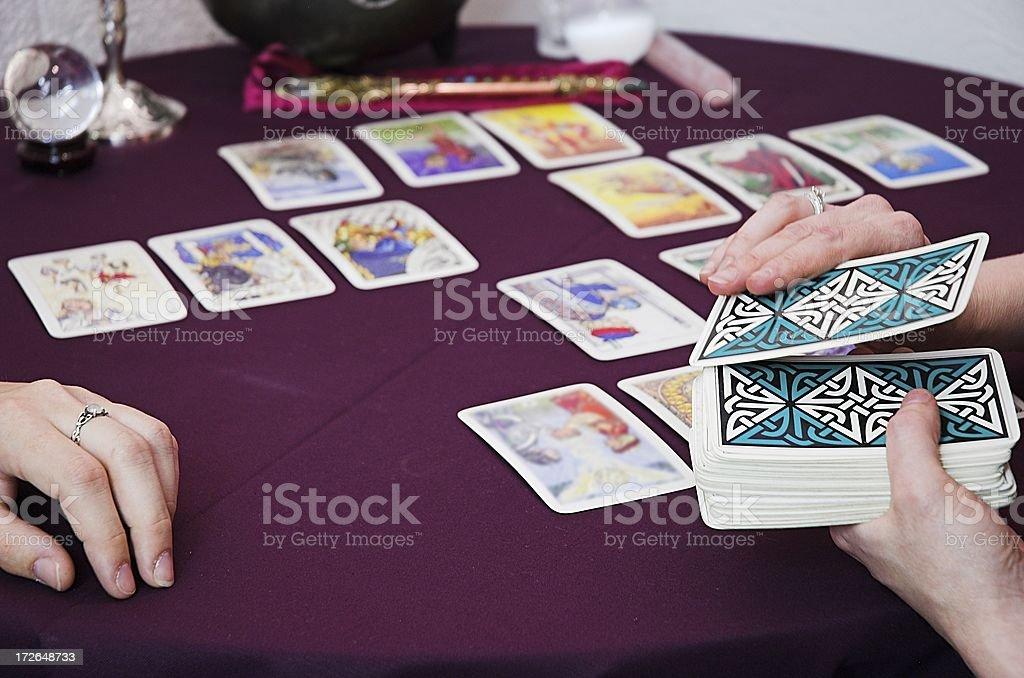 tarot reading royalty-free stock photo
