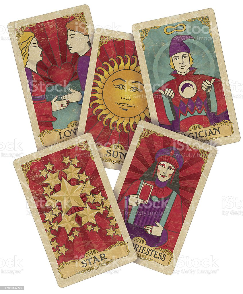 Tarot_cards_custom stock photo