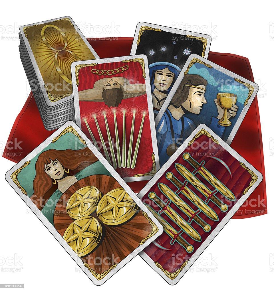 Tarot_Cards_misc.jpg stock photo
