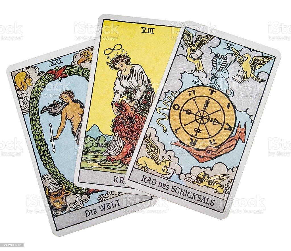 Tarotkarten stock photo