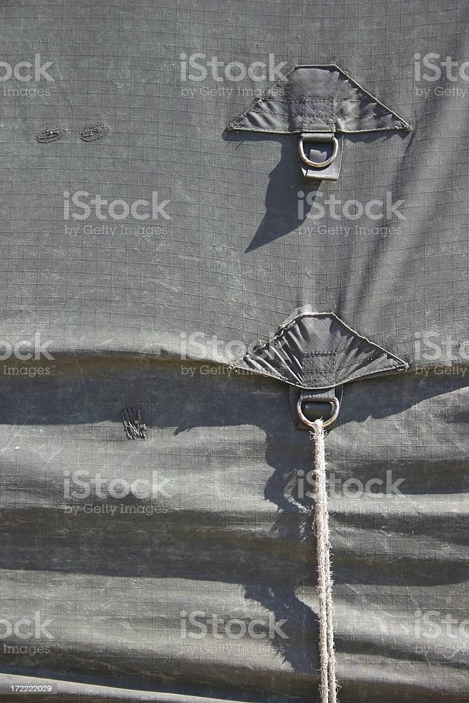 Tarp Ropes royalty-free stock photo