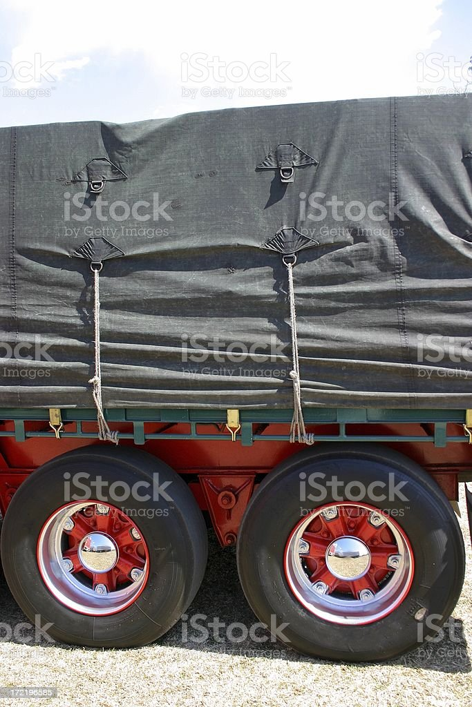 Tarps and Tyres stock photo