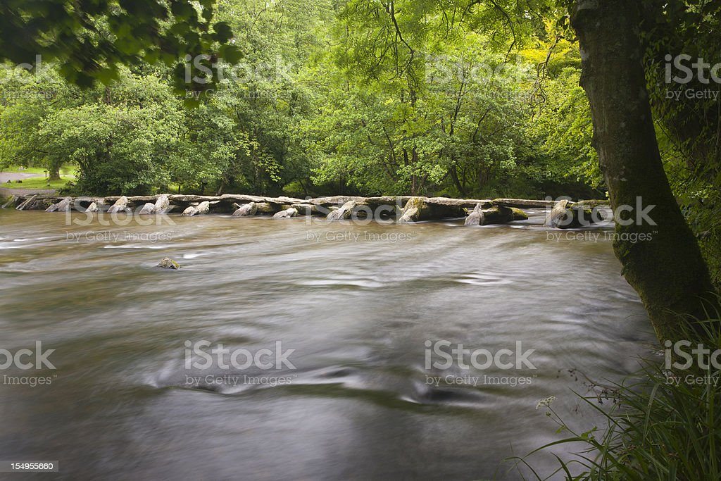 Tarr Steps stock photo