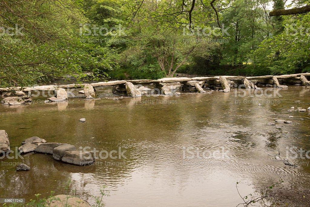 Tarr Steps, Somerset, England stock photo