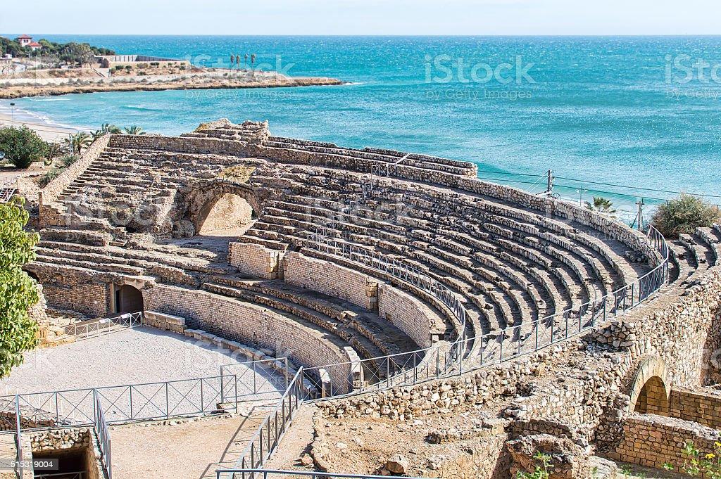 Tarraco amphitheatre in Tarragona stock photo