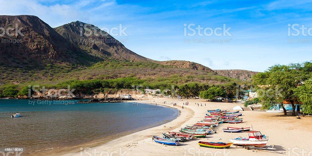 Tarrafal beach in Santiago island in Cape Verde stock photo