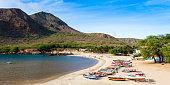 Tarrafal beach in Santiago island in Cape Verde