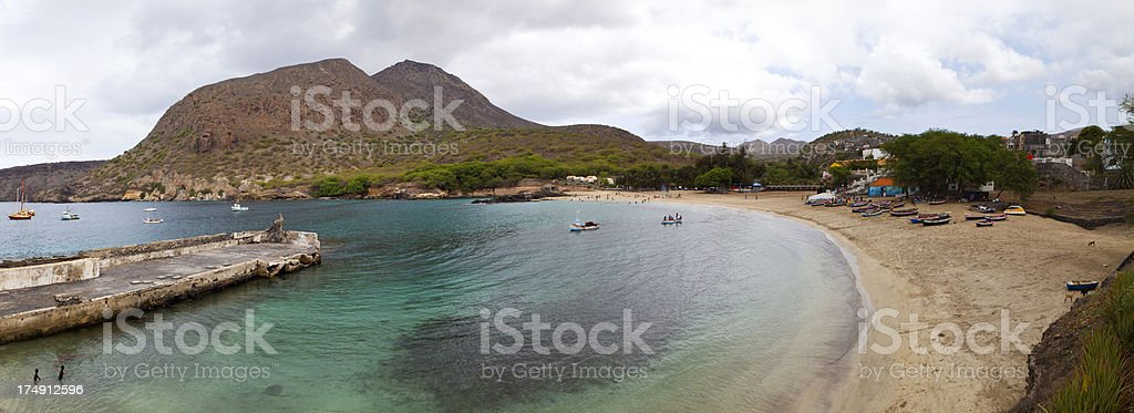 Tarrafal Beach stock photo