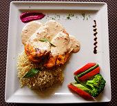 Tarragon Chicken with Rice