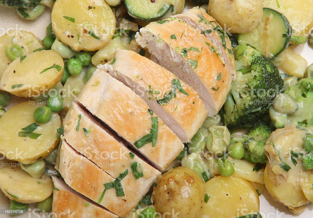 Tarragon Chicken with Vegetables royalty-free stock photo