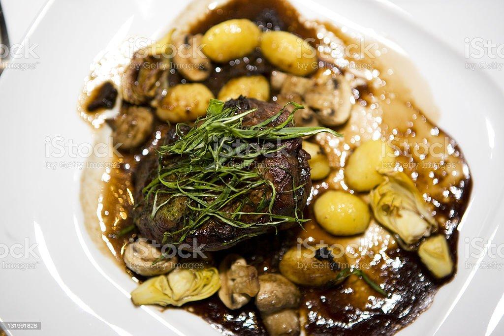 Tarragon crusted beef tenderloin royalty-free stock photo