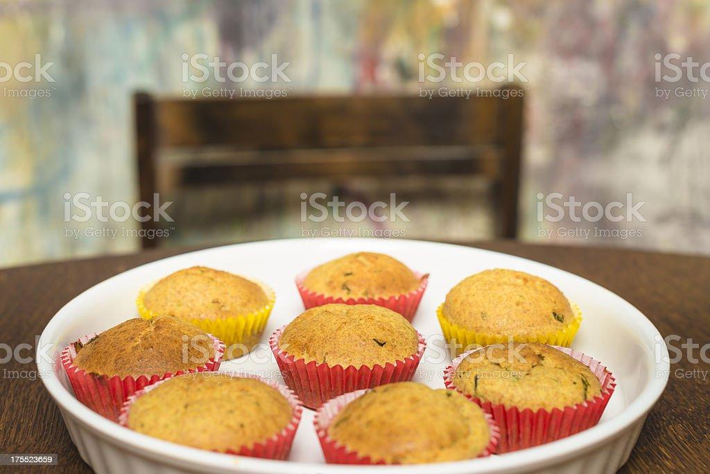 Tarragon muffins royalty-free stock photo