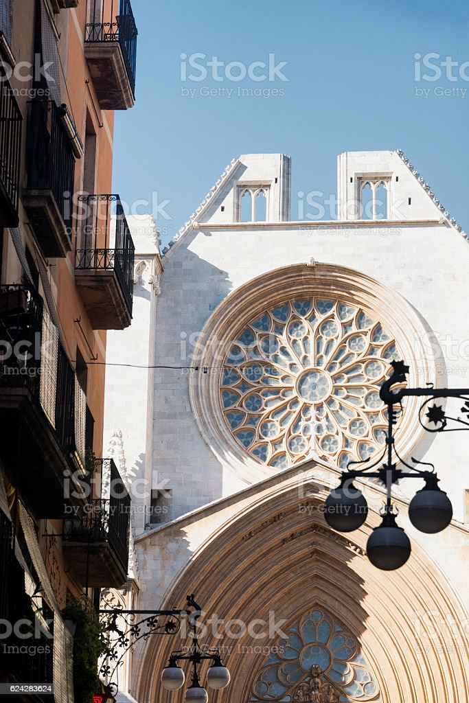 Tarragona (Spain): gothic cathedral stock photo