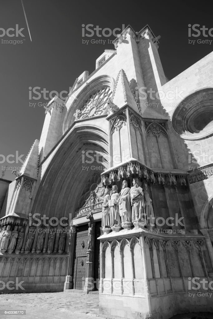 Tarragona (Spain): gothic cathedral stock photo