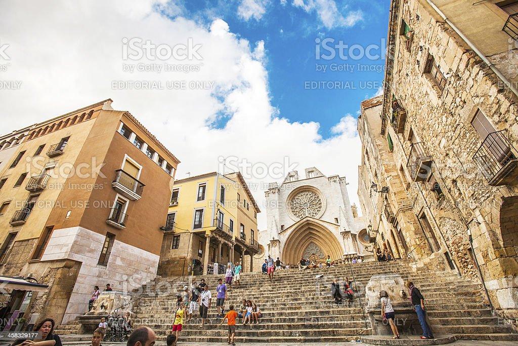 Tarragona old town. stock photo