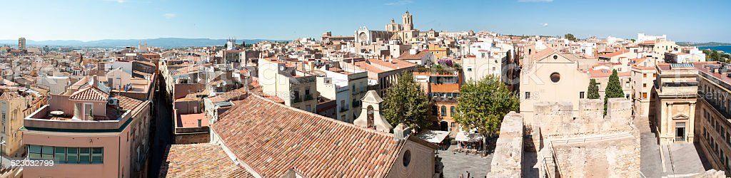 Tarragona panorama stock photo