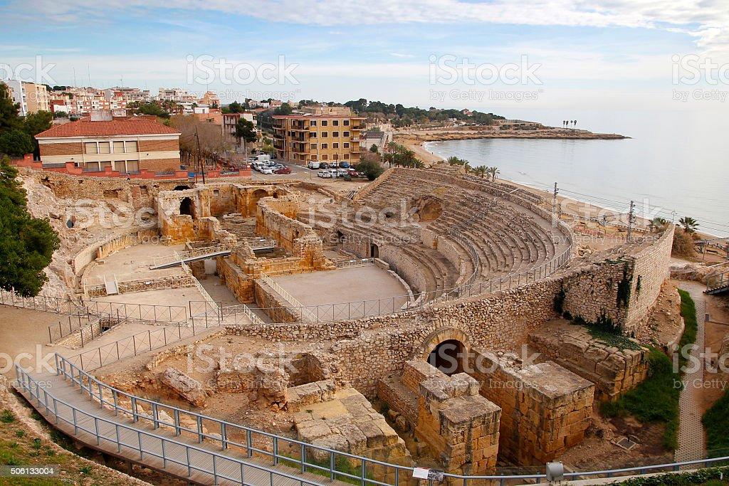 Tarragona, roman amphitheater stock photo