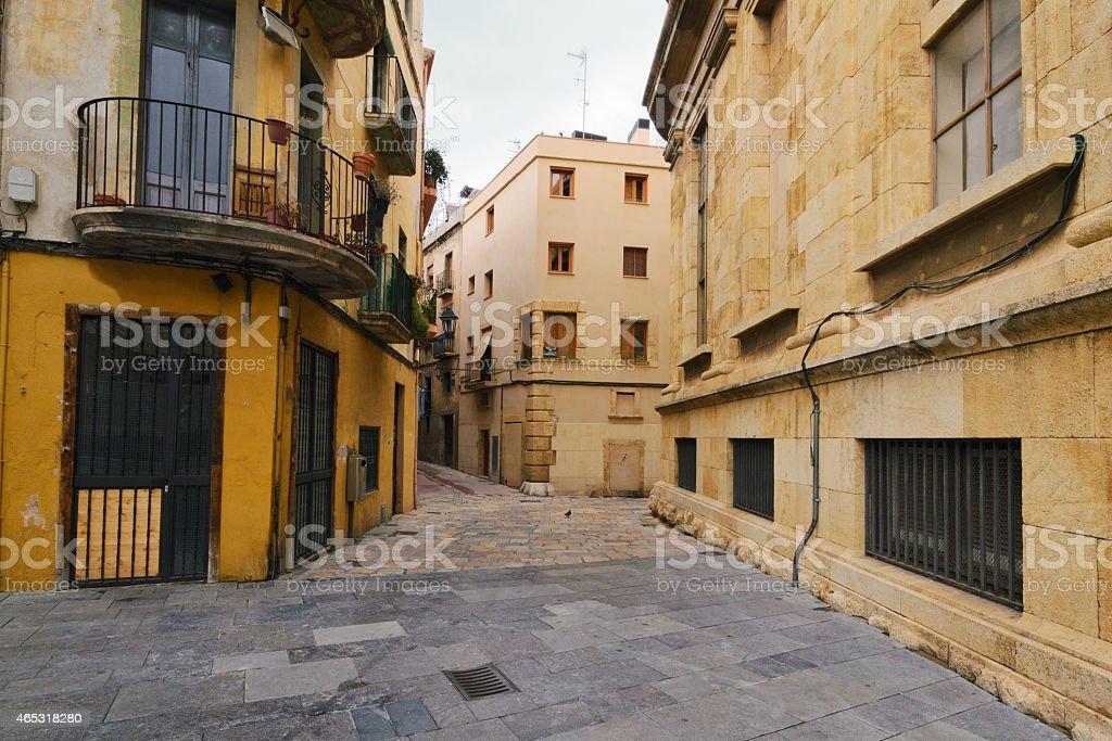 Tarragona street foto de stock libre de derechos