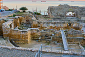 Tarragona's Roman circus during sunset