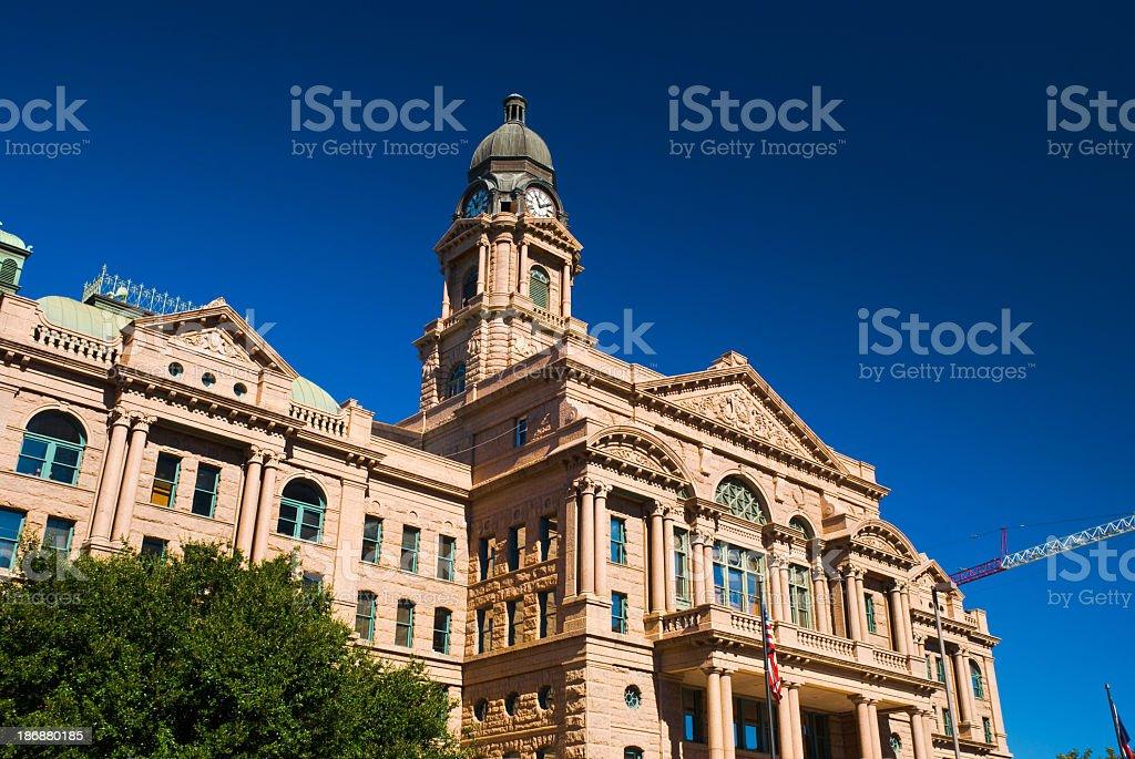 Tarrant County Courthouse against blue sky stock photo