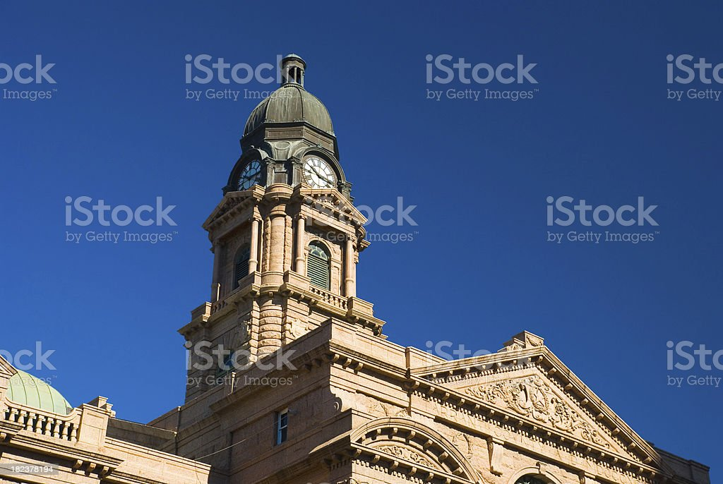 Tarrant County Courthouse closeup stock photo