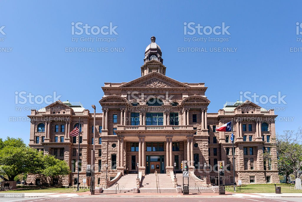 Tarrant County Courthouse in Fort Worth stock photo