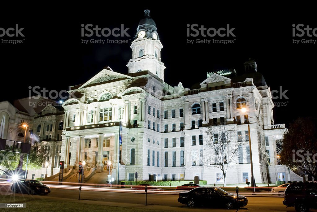 Tarrant County Courthouse in Forth Worth, Texas stock photo